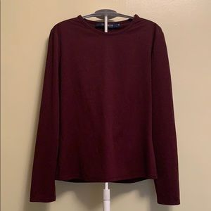 Vintage French Connection burgundy long sleeve top